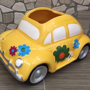 Love Bug Car Ceramic Planter